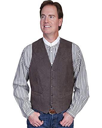 Scully Men's Lambskin Leather Western Vest - 503-63