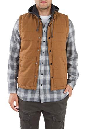 UNIONBAY Men's Flannel Lined Canvas Vest