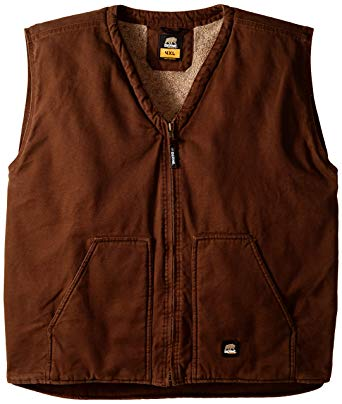 Berne Men's Big-Tall Washed V-Neck Vest