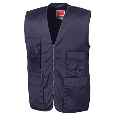 Result Work-Guard Men's Work-Guard Safari Waistcoat