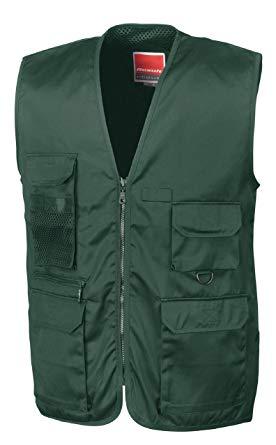 Result Men's Safari Waistcoat Outerwear